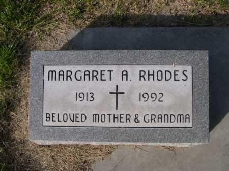 RHODES, MARGARET A. - Dawes County, Nebraska   MARGARET A. RHODES - Nebraska Gravestone Photos