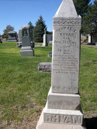 RHYAN, THOMAS E. - Dawes County, Nebraska | THOMAS E. RHYAN - Nebraska Gravestone Photos