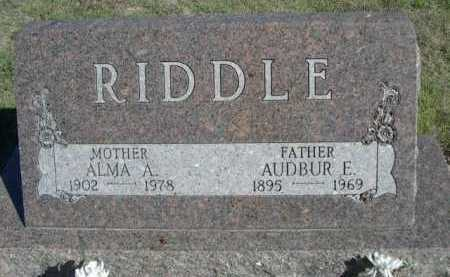 RIDDLE, AUDBUR E. - Dawes County, Nebraska | AUDBUR E. RIDDLE - Nebraska Gravestone Photos