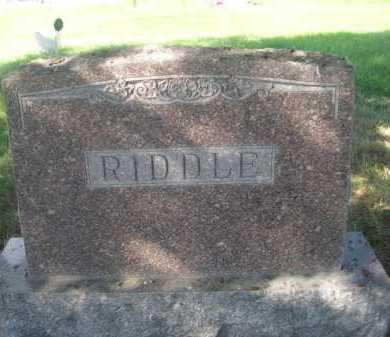 RIDDLE, FAMILY - Dawes County, Nebraska | FAMILY RIDDLE - Nebraska Gravestone Photos
