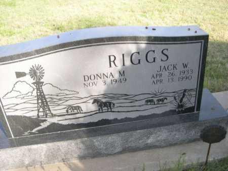 RIGGS, JACK W. - Dawes County, Nebraska | JACK W. RIGGS - Nebraska Gravestone Photos
