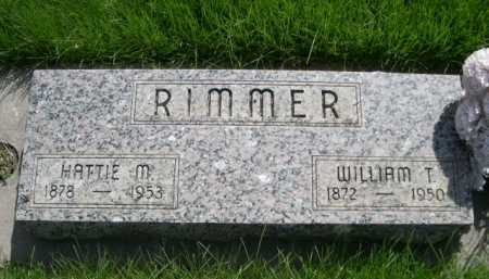 RIMMER, WILLAIM T. - Dawes County, Nebraska | WILLAIM T. RIMMER - Nebraska Gravestone Photos