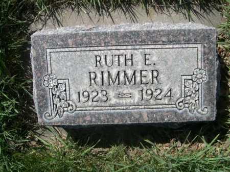 RIMMER, RUTH E. - Dawes County, Nebraska | RUTH E. RIMMER - Nebraska Gravestone Photos