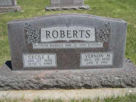 ROBERTS, VERNON H. - Dawes County, Nebraska | VERNON H. ROBERTS - Nebraska Gravestone Photos