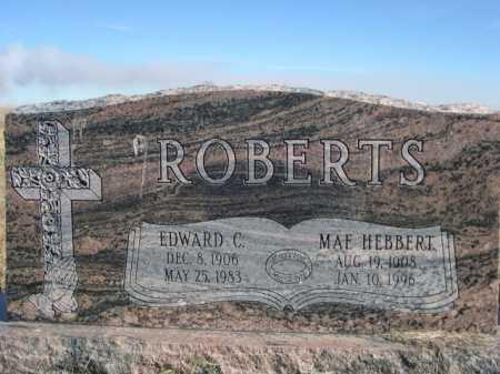 ROBERTS, EDWARD C. - Dawes County, Nebraska | EDWARD C. ROBERTS - Nebraska Gravestone Photos