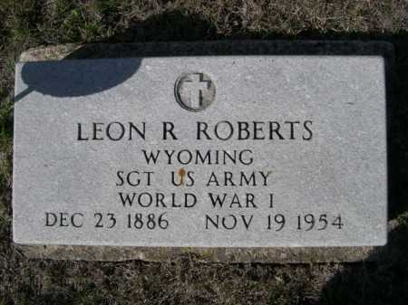 ROBERTS, LEON R. - Dawes County, Nebraska   LEON R. ROBERTS - Nebraska Gravestone Photos