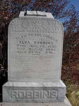 ROBINS, ILAH PEARL GRIGLER - Dawes County, Nebraska   ILAH PEARL GRIGLER ROBINS - Nebraska Gravestone Photos