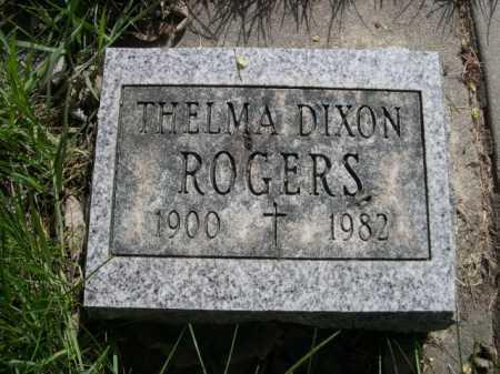 DIXON ROGERS, THELMA - Dawes County, Nebraska   THELMA DIXON ROGERS - Nebraska Gravestone Photos