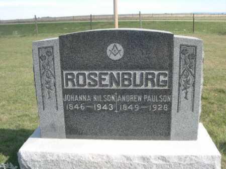ROSENBURG, ANDREW PAULSON - Dawes County, Nebraska | ANDREW PAULSON ROSENBURG - Nebraska Gravestone Photos