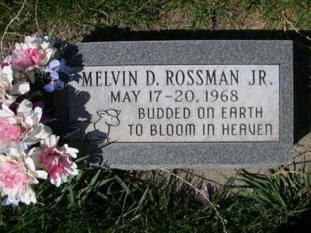 ROSSMAN, MELVIN D.JR. - Dawes County, Nebraska   MELVIN D.JR. ROSSMAN - Nebraska Gravestone Photos