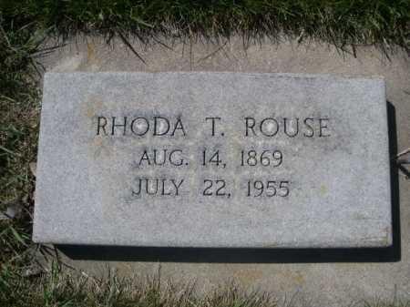 ROUSE, RHODA T. - Dawes County, Nebraska | RHODA T. ROUSE - Nebraska Gravestone Photos