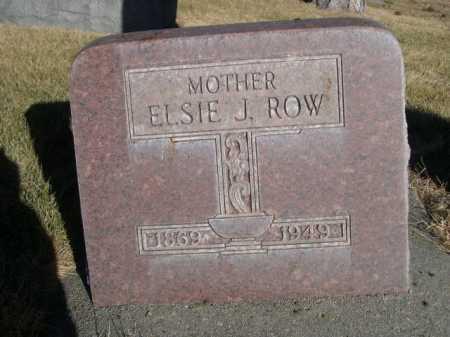 ROW, ELSIE J. - Dawes County, Nebraska | ELSIE J. ROW - Nebraska Gravestone Photos