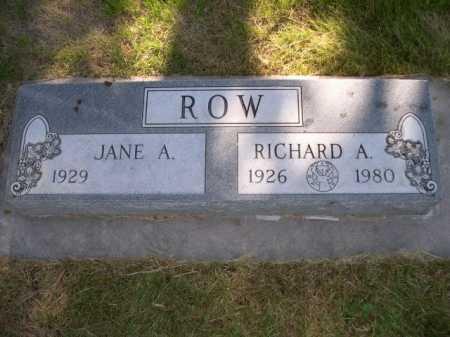 ROW, RICHARD A. - Dawes County, Nebraska | RICHARD A. ROW - Nebraska Gravestone Photos