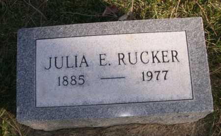 RUCKER, JULIA E. - Dawes County, Nebraska   JULIA E. RUCKER - Nebraska Gravestone Photos