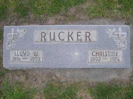 RUCKER, LLOYD W. - Dawes County, Nebraska | LLOYD W. RUCKER - Nebraska Gravestone Photos