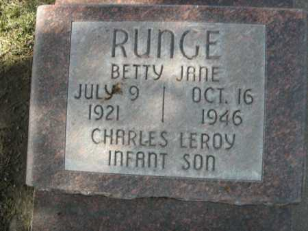RUNGE, BETTY JANE - Dawes County, Nebraska | BETTY JANE RUNGE - Nebraska Gravestone Photos