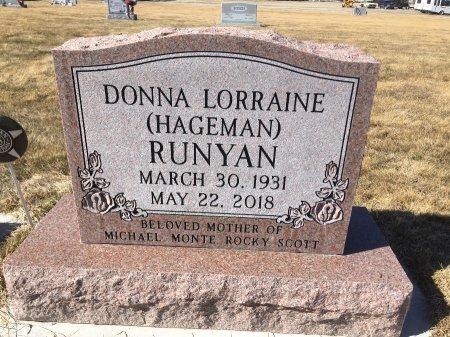 HAGEMAN RUNYAN, DONNA LORRAINE - Dawes County, Nebraska | DONNA LORRAINE HAGEMAN RUNYAN - Nebraska Gravestone Photos