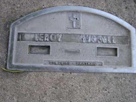 RUSSELL, LEROY - Dawes County, Nebraska | LEROY RUSSELL - Nebraska Gravestone Photos