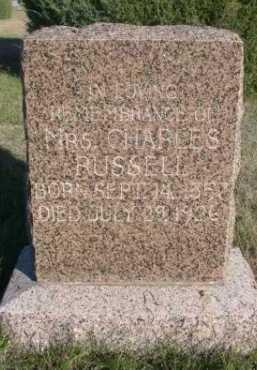 RUSSELL, MRS. CHARLES - Dawes County, Nebraska | MRS. CHARLES RUSSELL - Nebraska Gravestone Photos