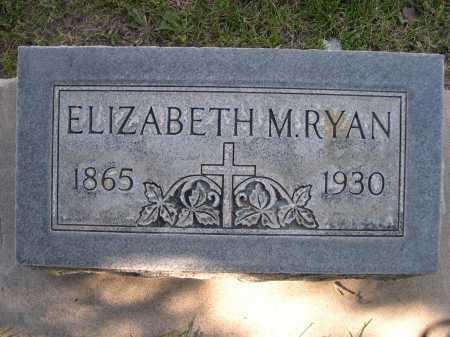 RYAN, ELIZABETH M - Dawes County, Nebraska | ELIZABETH M RYAN - Nebraska Gravestone Photos