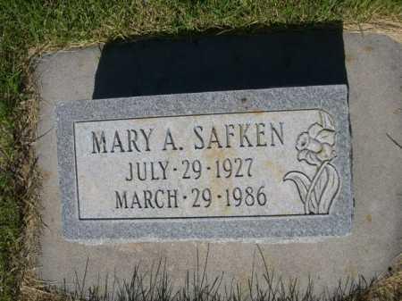 SAFKEN, MARY A. - Dawes County, Nebraska | MARY A. SAFKEN - Nebraska Gravestone Photos