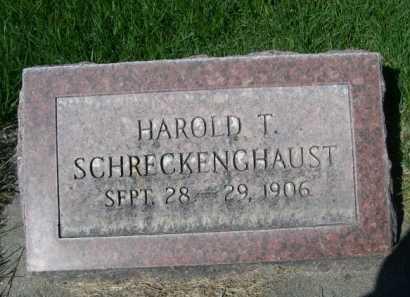 SCHRECKENGHAUST, HAROLD T. - Dawes County, Nebraska | HAROLD T. SCHRECKENGHAUST - Nebraska Gravestone Photos