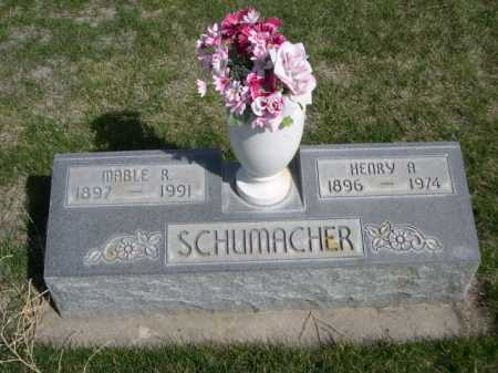 SCHUMACHER, HENRY A. - Dawes County, Nebraska   HENRY A. SCHUMACHER - Nebraska Gravestone Photos