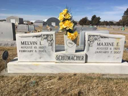 SCHUMACHER, MELVIN L. - Dawes County, Nebraska | MELVIN L. SCHUMACHER - Nebraska Gravestone Photos