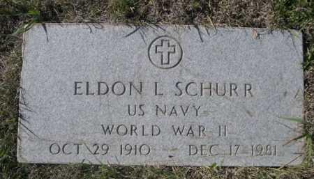 SCHURR, ELDON L. - Dawes County, Nebraska | ELDON L. SCHURR - Nebraska Gravestone Photos