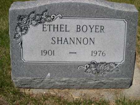 BOYER SHANNON, ETHEL - Dawes County, Nebraska | ETHEL BOYER SHANNON - Nebraska Gravestone Photos