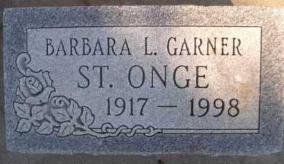 GARNER ST. ONGE, BARBARA L. - Dawes County, Nebraska | BARBARA L. GARNER ST. ONGE - Nebraska Gravestone Photos