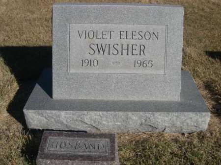 ELESON SWISHER, VIOLET ELESON - Dawes County, Nebraska | VIOLET ELESON ELESON SWISHER - Nebraska Gravestone Photos