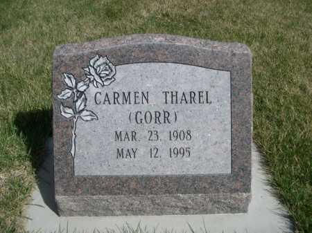 GORR THAREL, CARMEN - Dawes County, Nebraska | CARMEN GORR THAREL - Nebraska Gravestone Photos