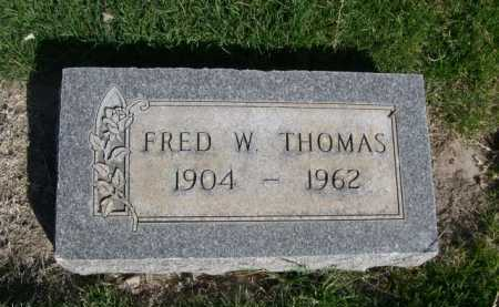 THOMAS, FRED W. - Dawes County, Nebraska | FRED W. THOMAS - Nebraska Gravestone Photos