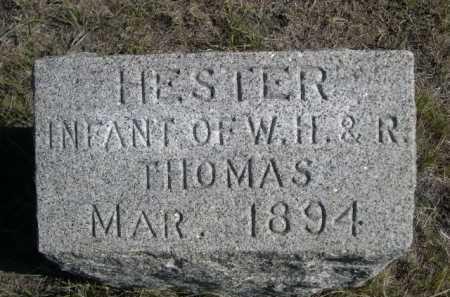 THOMAS, HESTER - Dawes County, Nebraska | HESTER THOMAS - Nebraska Gravestone Photos