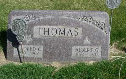 THOMAS, ALBERT G, - Dawes County, Nebraska | ALBERT G, THOMAS - Nebraska Gravestone Photos