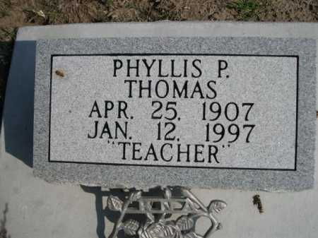 THOMAS, PHYLLIS P. - Dawes County, Nebraska | PHYLLIS P. THOMAS - Nebraska Gravestone Photos