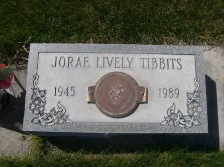 LIVELY TIBBITS, JORAE - Dawes County, Nebraska | JORAE LIVELY TIBBITS - Nebraska Gravestone Photos