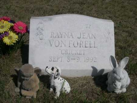 VON FORELL, RAYNA JEAN - Dawes County, Nebraska | RAYNA JEAN VON FORELL - Nebraska Gravestone Photos