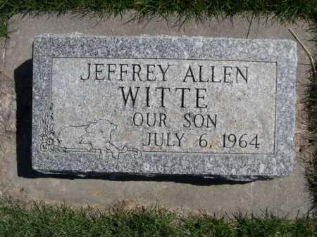 WITTE, JEFFREY ALLEN - Dawes County, Nebraska | JEFFREY ALLEN WITTE - Nebraska Gravestone Photos
