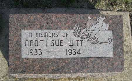 WITT, NAOMI SUE - Dawes County, Nebraska | NAOMI SUE WITT - Nebraska Gravestone Photos