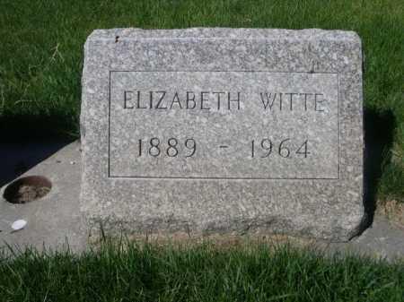 WITTE, ELIZABETH - Dawes County, Nebraska | ELIZABETH WITTE - Nebraska Gravestone Photos