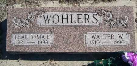 WOHLERS, WALTER W. - Dawes County, Nebraska   WALTER W. WOHLERS - Nebraska Gravestone Photos
