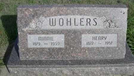 WOHLERS, MINNIE - Dawes County, Nebraska   MINNIE WOHLERS - Nebraska Gravestone Photos