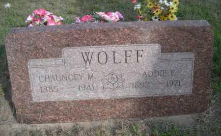 WOLFF, ADDIE E. - Dawes County, Nebraska | ADDIE E. WOLFF - Nebraska Gravestone Photos