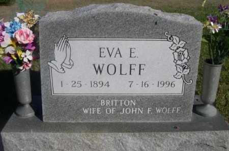 BRITTON WOLFF, EVA E. - Dawes County, Nebraska | EVA E. BRITTON WOLFF - Nebraska Gravestone Photos