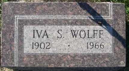 WOLFF, IVA S. - Dawes County, Nebraska | IVA S. WOLFF - Nebraska Gravestone Photos