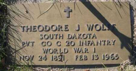 WOLFF, THEODORE J. - Dawes County, Nebraska   THEODORE J. WOLFF - Nebraska Gravestone Photos
