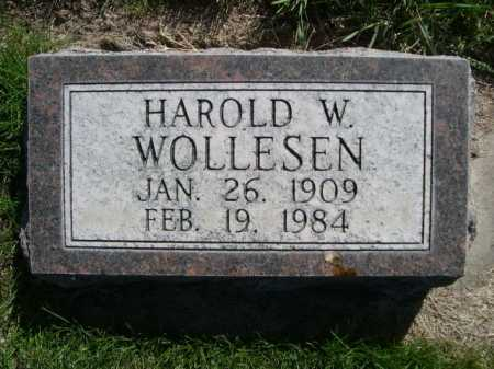 WOLLESEN, HAROLD W. - Dawes County, Nebraska   HAROLD W. WOLLESEN - Nebraska Gravestone Photos