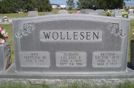 WOLLESEN, LELAND F. - Dawes County, Nebraska | LELAND F. WOLLESEN - Nebraska Gravestone Photos